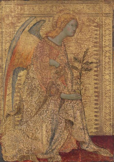 Martini, Simone: The Angel of the Annunciation. Religious Fine Art Print/Poster. Sizes: A4/A3/A2/A1 (004165)